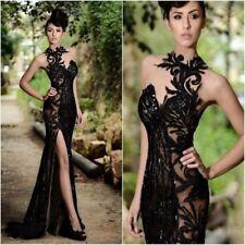 Lange Mermaid Spitze Brautkleid Hochzeitskleid Abendkleid Gr:36 38 40 42 44 46