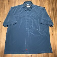 Woolrich Hydro Vented Sz. Large Teal Blue Hydro Men's SS Shirt Outdoor Fishing