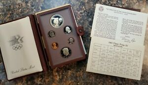 1983 Prestige Set Olympics 90% Silver Dollar 6 Coin Set w/ Box & COA - ENN Coins