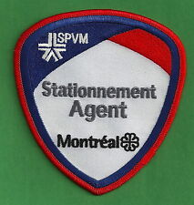 MONTREAL QUEBEC CANADA SPVM STATIONNEMENT PARKING POLICE PATCH