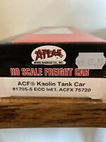 HO Scale Atlas 1705-5 ACF ECC International Kaolin Tank Car ACFX #75720