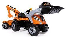 Smoby Kindertraktor Kindertrecker Kinder Traktor mit Anhänger Bagger Trettraktor