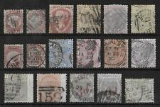 GREAT BRITAIN Used Classic Lot of 17 Stamps Unchecked High CV