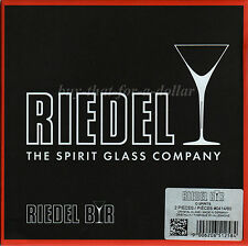 *NEW* Riedel Bar O Spirits Wine Glass Set-Crystal-Brandy-Cognac-Whisky-Whiskey