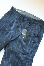 G-STAR RAW Bronson Blue Over Dye Zip Tapered Cuffed Chino Trousers *NWT* W28
