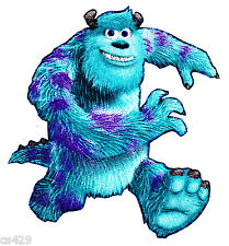 """4.5"""" Disney monsters inc sulley running fabric applique iron on character"""