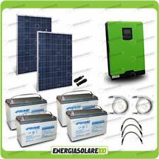 Kit solare fotovoltaico 560W Inverter Edison50 5kW 48V PWM Batterie AGM
