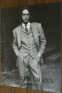 Ralph Lauren Polo Magazine Print Ad 1 page Original Vintage Fashion Tie
