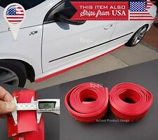 2 x 8 FT Red EZ Fit Bottom Line Side Skirt Lip Trim Extension For Mini Rover