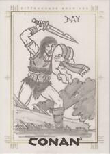 Conan Art of the Hyborian Age - David Day SketchaFEX Sketch Card