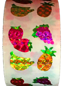 "400 Fruit Stickers in a roll of 100 modules (2"" x 2""), each sticker 1"", RP5102"