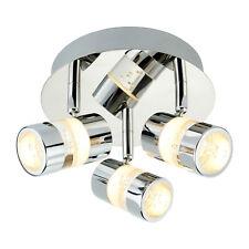 LED Bathroom Light Ø28cm Spot 3-fl.Badlampe Chrome White Ceiling New