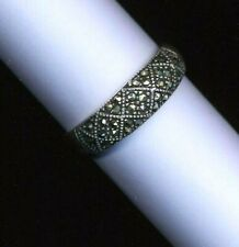 Quality vintage marcasite set Sterling silver ring