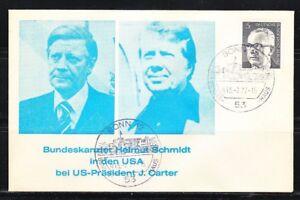 Germany 1977 event cover Kanzler Helmut Schmidt & President Jimmy Carter