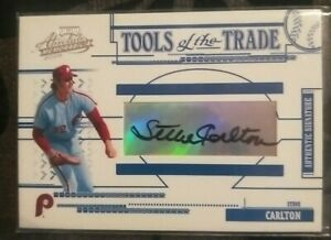 """2005 """"Tools of the trade auto"""" Steve Carlton from the Phillie's. Numbered /150"""
