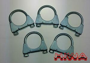 3 x Auspuffschelle für PKW *EDELSTAHL*  Auspuff Montageschelle M8 Ø70  mm
