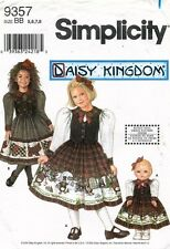 "Daisy Kingdom Simplicity Child's and 18"" Doll Dress Pattern 9357 6-8 UNCUT"