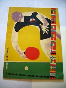 EUROPEAN TABE TENNIS CAHMPIONSHIPS, ZAGREB 1960, PROGRAMME + SUPPLEMENT