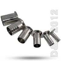 """1/2""""-2"""" 12MM-57MM Sanitary Hose Barb Ferrule Pipe Fitting SS316 Tri Clamp Type"""
