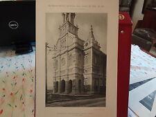 1888 Church of St John Baptist Quebec Canada 8.5 X 13 Photogravure