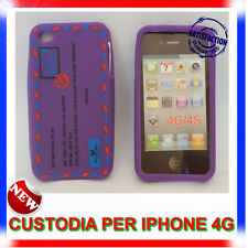 Custodia + Pellicola silicone AIRMAIL VIOLA per IPHONE 4G
