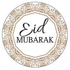 70 x EID MUBARAK NON Personalised Stickers RAMADAN CELEBRATION Muslim sweet 967