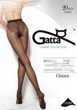 """Gatta """"Chiara"""" 20 den Strumpfhose mit Naht und Hochferse in schwarz"""
