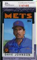 Davey Johnson 1986 Topps Jsa Coa Hand Signed Authentic Autograph