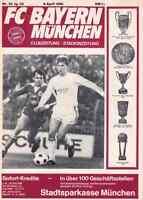 Fussball-Programmheft   79/80   EC   Bayern München - Eintracht Frankfurt
