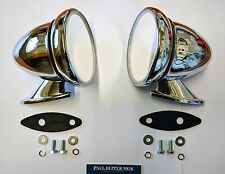 'Classic' Austin Mini Chrome Racing/ Bullet Wing Mirrors (pair) GAM105