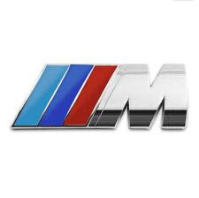 Insignia M Aluminio, BMW M-Sport, M-Power, Emblema M, Motorsport Plata