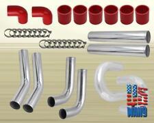 """8 pc JDM Black Red 2.5"""" Universal U Piping Hose Clamp Kit E30 M3 E36 325 328E46"""