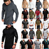 Mens Slim Fit Gym Muscle Long Short Sleeve Hoodies Pullover T-shirt Tops Sports