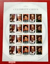 US Stamps SC#4926b Forever Celebrity Chefs Imperforate Pane of 20 CV:$33