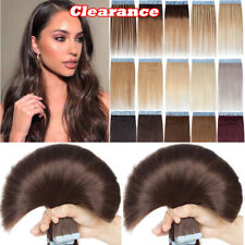 Thick Glue Brazilian Tape In Remy 100% Human Hair Extensions 150g 60PCS Blonde