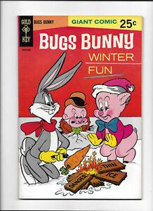 BUGS BUNNY WINTER FUN #1 [1956 VF-NM] THIN ICE COVER!