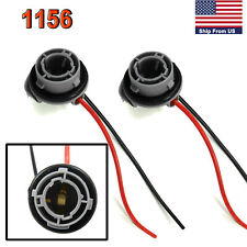 2X 1156 7257 P21W Tail Signal Light Female Socket Wire Harness Female Connector