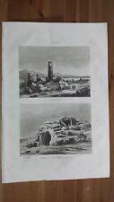 1836 Veduta: Selinunte (Castelvetrano) e Tomba di Archimede a Siracusa (Sicilia)