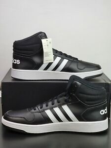 Adidas Originals Hoops 2.0 MID Black White Basketball Shoes BB7207 Men's Size 12