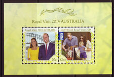 AUSTRALIE 2014 ROYAL VISITE BLOC-FEUILLET NON MONTÉS EXCELLENT ÉTAT