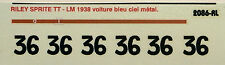 decals 1/43: Riley Sprite TT Le Mans 1938 N°36