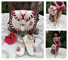 "14"" Ruby Red Fashion Friends SHOES and BAG handmade"