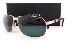 New Chopard Sunglasses SCH B34 300P  Gold/Green Polarized For Men