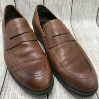 JOHNSTON & MURPHY XC4 Brown Leather Penny Loafers Apron Shoes Men's Size 11.5 M
