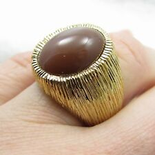 NEW Chocolate Moonstone Vermeil Sterling Silver Ring Sz 8 NWT HSN $159.90