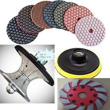 "3/8"" Granite Countertop Full Bullnose 4"" Dry polishing grinding disc 32+1 marble"