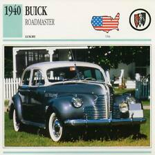 1940 BUICK ROADMASTER Classic Car Photograph / Information Maxi Card