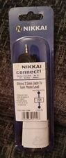 NIKKAI CONNECT! STEREO 3.5MM JACK TO TWIN PHONO LEADS  1.5M LONG