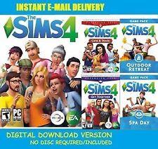 The Sims 4 + 4 DLC + 3 Bonus Games + Warranty .