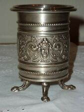 Antique WMF Silver Plated Spill Vase with Retailer's Name- RARE CLASSICAL DESIGN